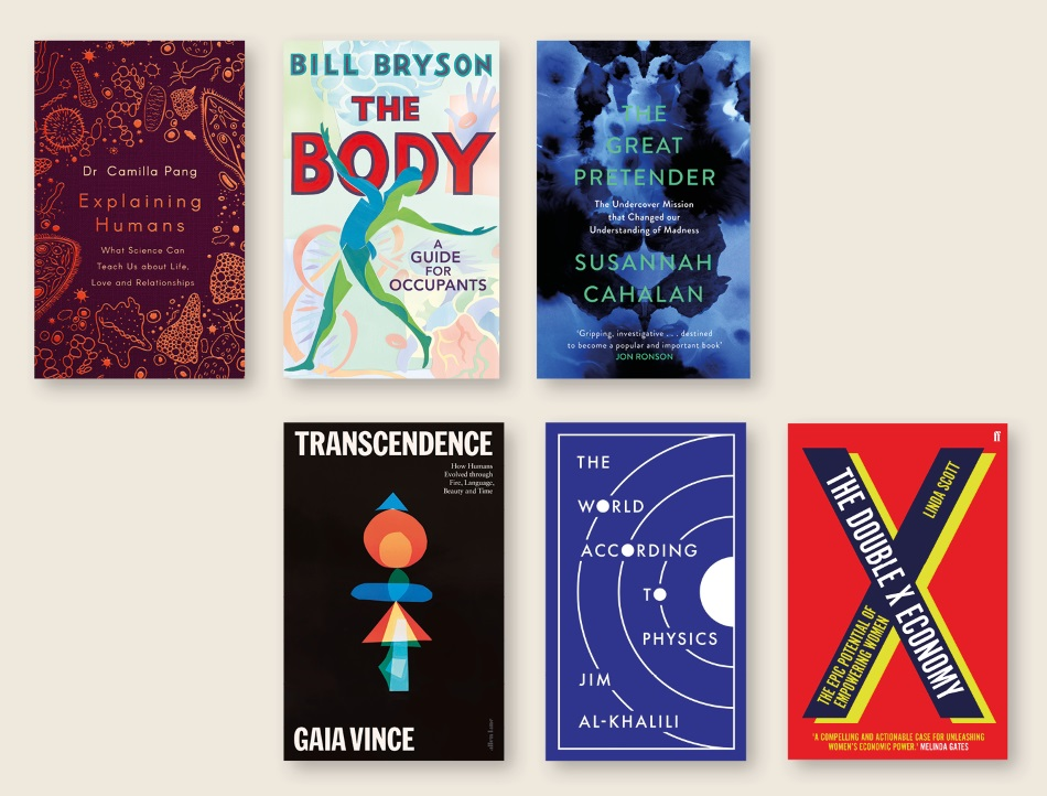 Shortlisted books for the Science Book Prize 2020