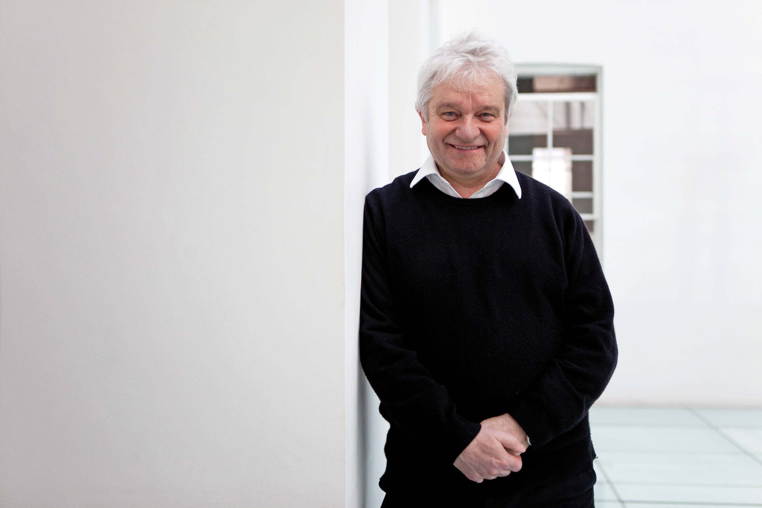 Paul Nurse stands in the atrium at Carlton House Terrace where the Royal Society is based.