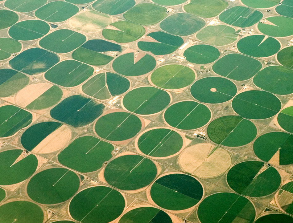 Circular irrigation. Copyright Kris Hanke