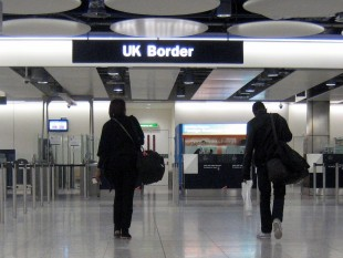 The UK Border at Heathrow Airport