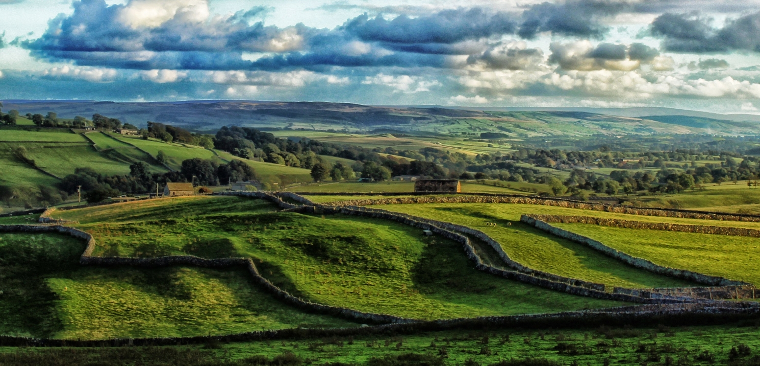 Sweeping view over Yorkshire Dales