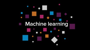 Machine learning interactive infographic