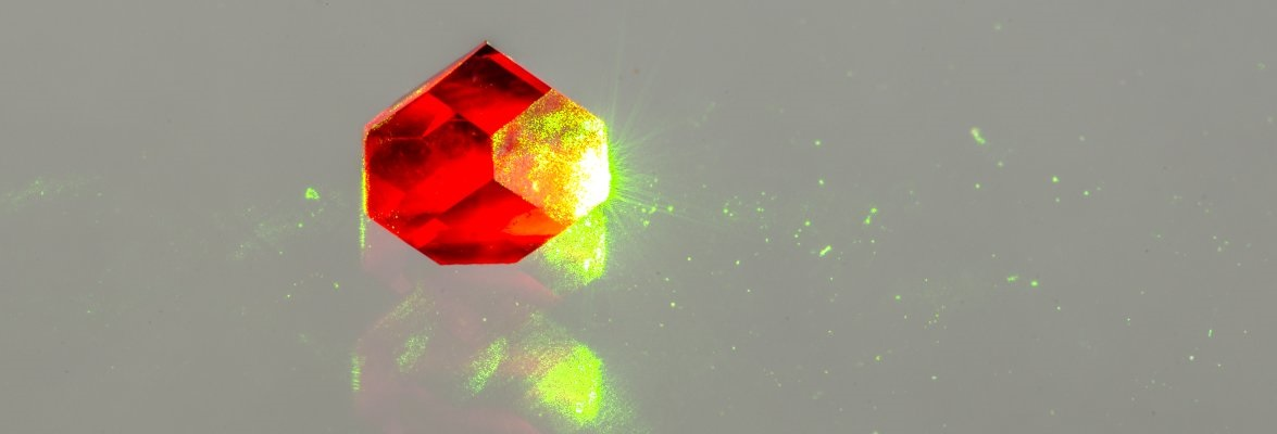 Luminescence from defects in diamond can be utilised in quantum technologies. Credit: Dr Jonathan Newland