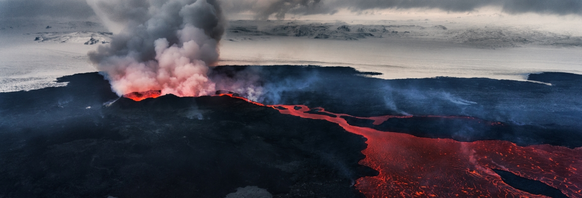 Bárðarbunga-Holuhraun Fissure Eruption, Iceland 2014. Understanding this eruptions might help us to better forecast eruptions in future. Credit: Arctic Images