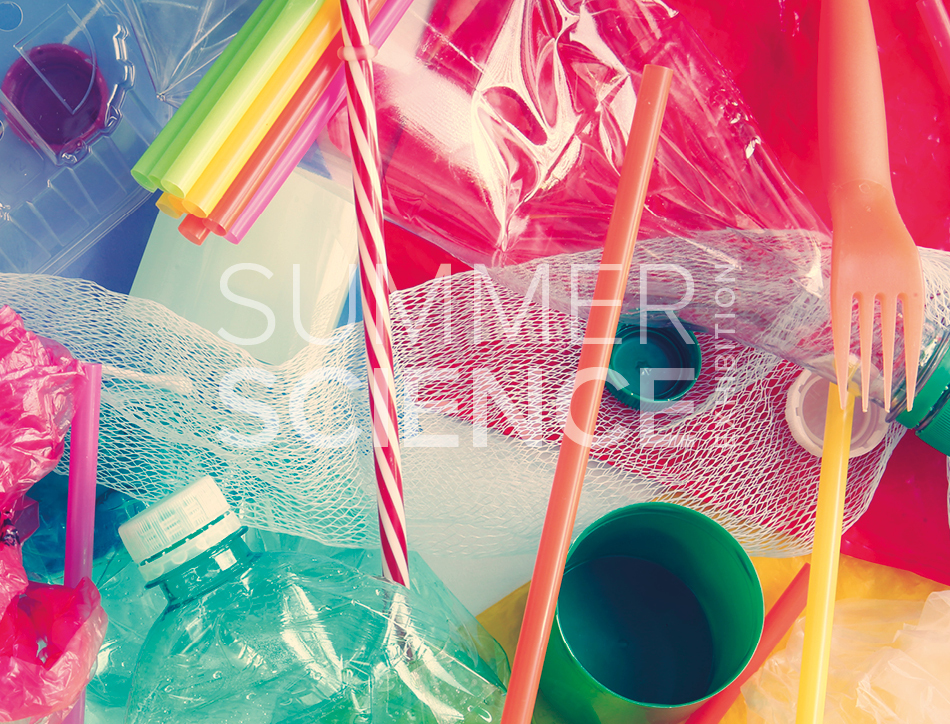 Summer Science Exhibition: colourful plastic materials in a pile