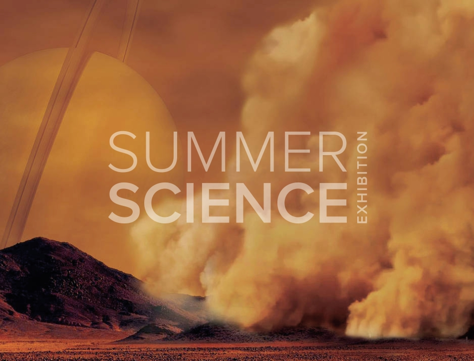 Summer Science Exhibition: artist's concept of a dust storm on Titan