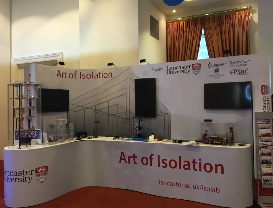 The art of isolation summer science exhibition stand