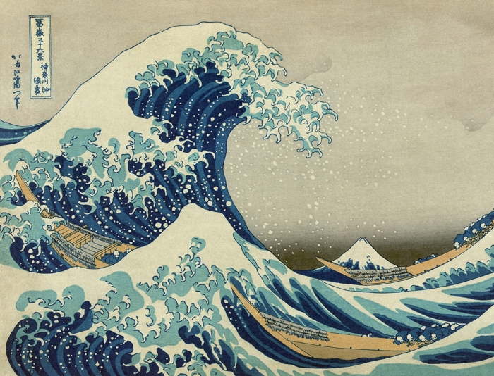 The great wave off Kanagawa print by Hokusai