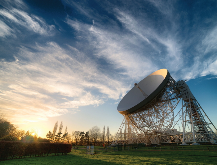 The 250 ft Lovell Telescope at Jodrell Bank, Cheshire
