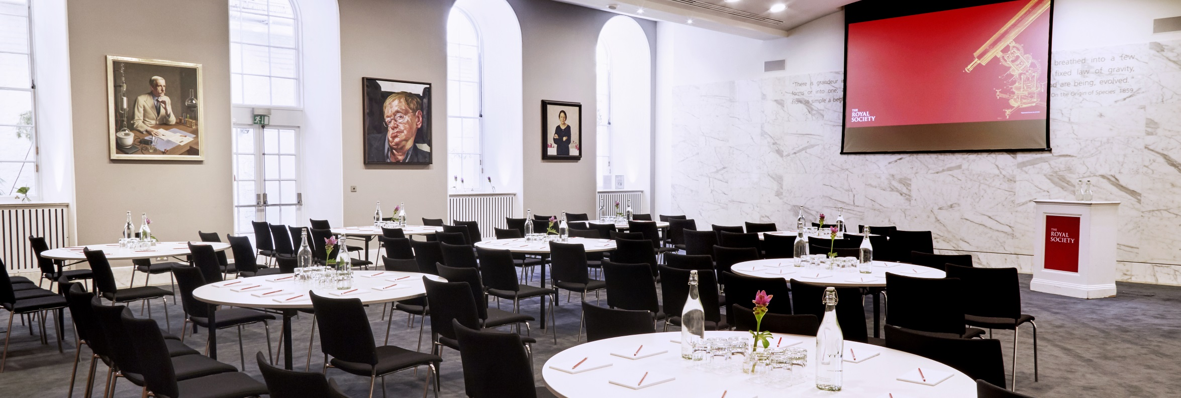 Cabaret layout in the Dining Room at the Royal Society