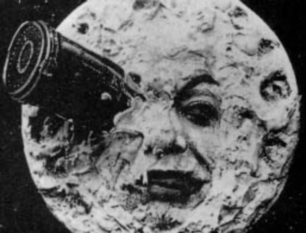 Image result for first science fiction film moon landing