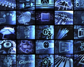 x-ray style contact sheet of cyber related items