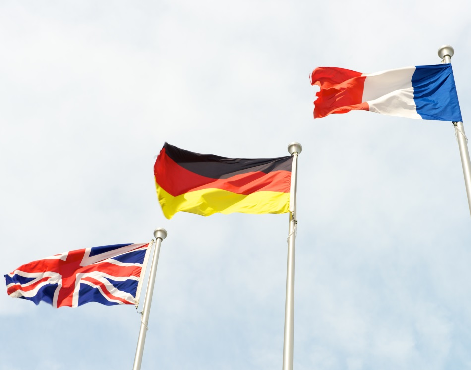 British, French and German Flags ©c8501089