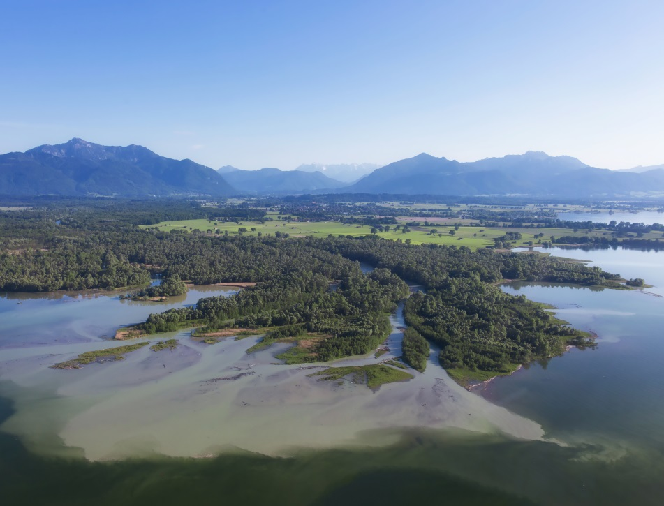 River Delta Tiroler Ache over Lake Chiemsee - Image Credit: Dieter Meyrl