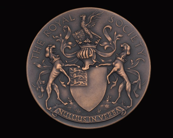 Royal Society medal front view