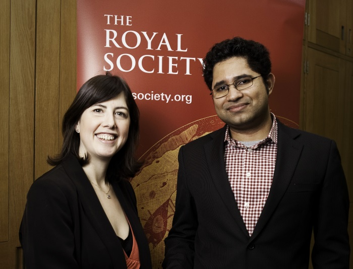 Dr Aravind Vijayaraghavan and his local MP Lucy Powell