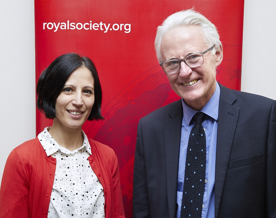 Dr Marina Pais, of The Sainsbury Laboratory in Norwich, with Norman Lamb, MP for North Norfolk and Chair of the House of Commons Science and Technology Committee in December 2017
