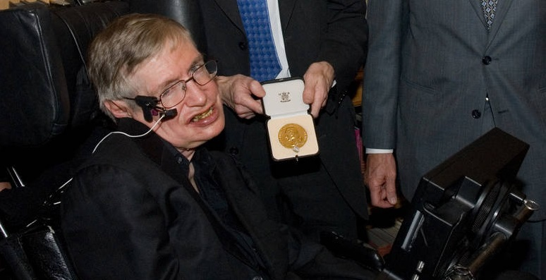 Professor Stephen Hawking with Copley Medal