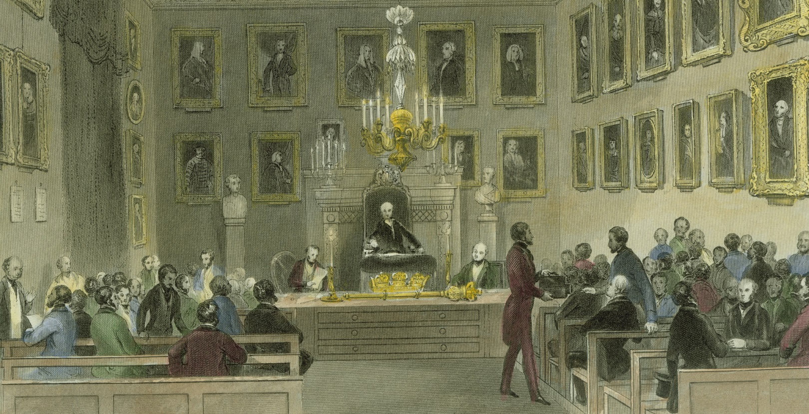 The Royal Society by candlelight