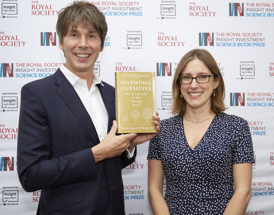 Neuroscientist Professor Sarah-Jayne Blakemore wins the Royal Society Insight Investment Science Book Prize
