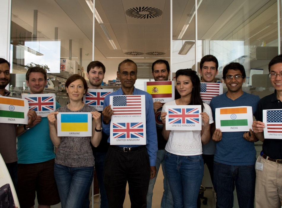Venki Ramakrishnan and lab group