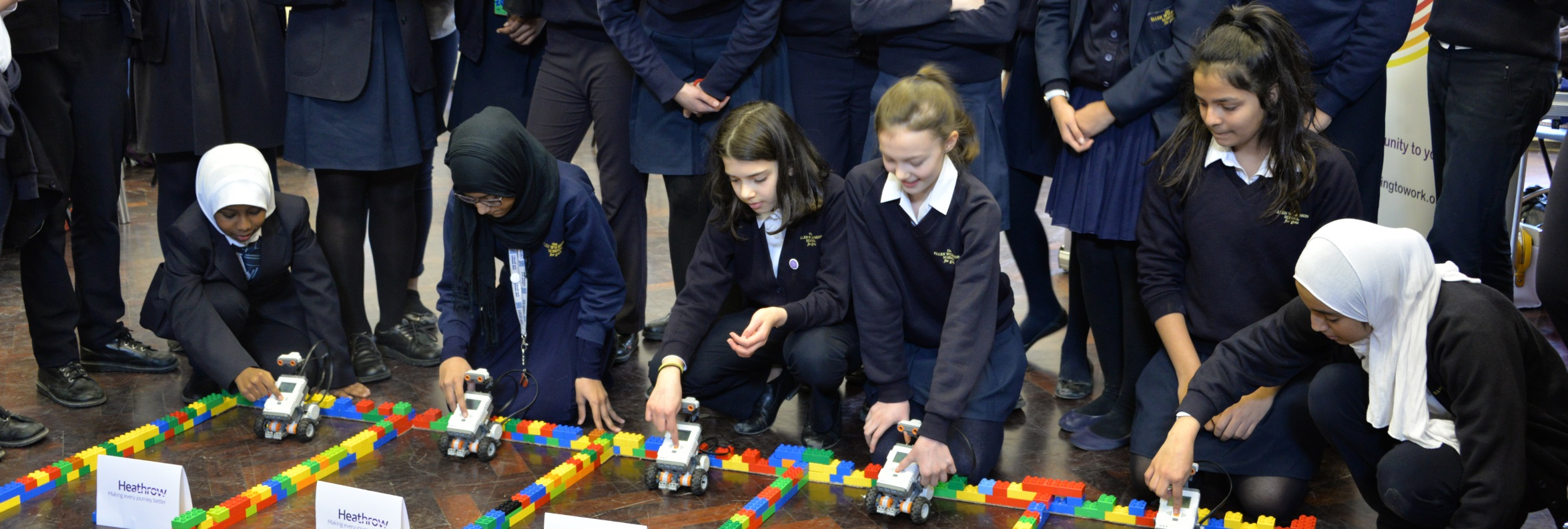 Heathrow Coding Challenge at the Ellen Wilkinson School for Girls, held on 8 March 2016. Image courtesy of Heathrow